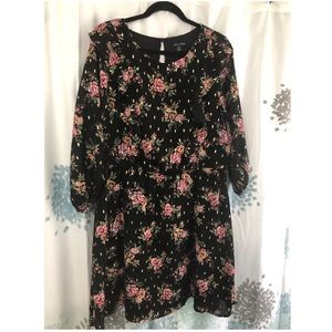 Little Black Dress with Floral pattern